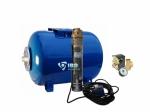 3,5 SCR1,8-50-5,5 Hidrofor 50L+M Csőkút házi vízmű szett